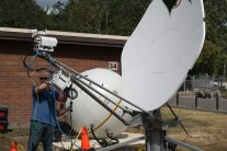 A comparison of the inflatable and portable satellite dishes