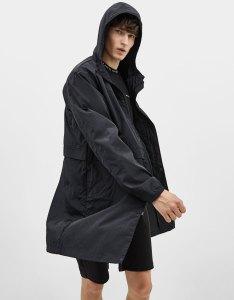 Hooded nylon parka