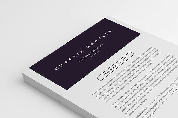 Chic Cover Letter Template   References cover letter top