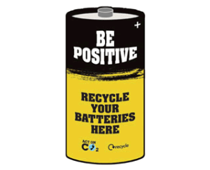 Be Positive - Recycle Batteries