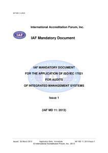 IAF MD10:2013