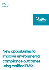 sniffer Report - Improved Alignment of UKAS-accredited certification bodies' activities with UK environment agencies' regulatory processes