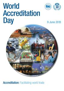 World Accreditation Day Poster 2013