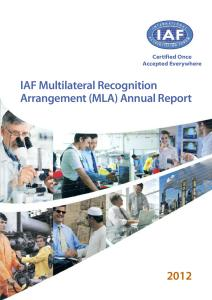 IAF Multilateral Recognition Agreement (MLA) Report 2012