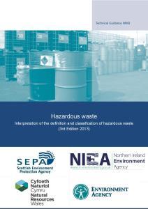 Technical Guidance WM2 - Third Edition 2013