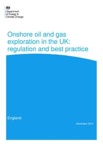 England: Onshore oil and gas exploration in the UK: regulation and best practice