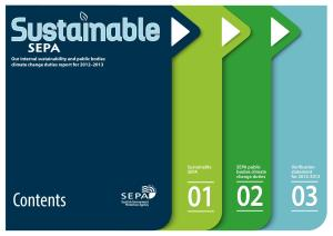 The Scottish Environment Protection Agency 'Sustainable SEPA' report