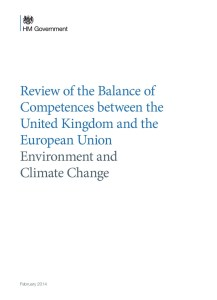 Review of the Balance of Competences between the United Kingdom and the European Union: