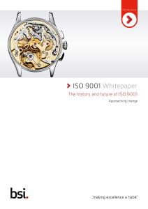 ISO 9001 Whitepaper: The history and future of ISO 9001