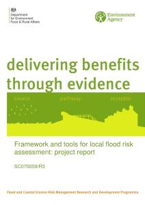 Framework and tools for local flood risk assessment - Project Report