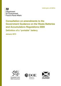 """Consultation document: Definition of a """"portable"""" battery"""
