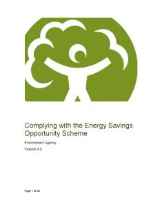 Environment Agency's ESOS Complying with the Energy Savings Opportunity Scheme, now, at Version 4
