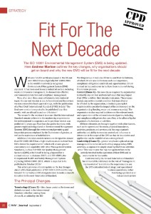 CIWM Journal Article - Fit For The Next Decade published in September 2015