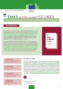 The European Commission has published a new guide: EMAS and the revised ISO 14001 to help EMAS registered organisations