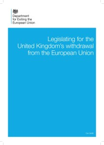 White Paper - Great Repeal Bill