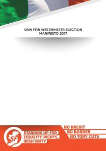Sinn Fein Manifesto 2017