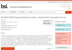 CONSULTATION: ISO DIS 50001 on Energy management systems -Requirements with guidance for use