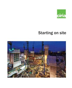 CIRIA Starting on-site Guidance