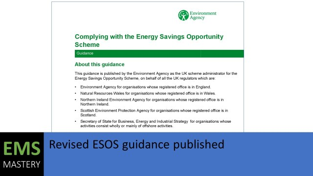 Revised ESOS guidance published