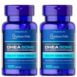 2X Dhea Puritan's Pride 50mg 100 Comprimidos