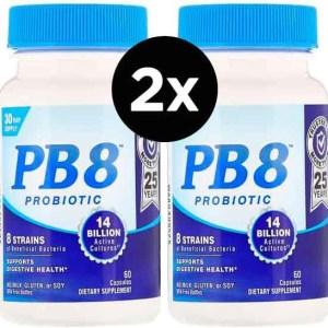 Probiótico PB8, Nutrition Now, com 120 capsulas – 2 Frascos Total De 240 Cápsulas