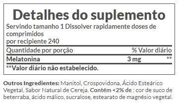 Melatonina 3mg Rápida Dissolução, Nature's Bounty – 240 comprimidos