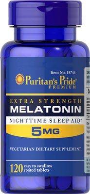 Melatonina 5mg, Puritan's Pride (Força Extra)120 Comprimidos