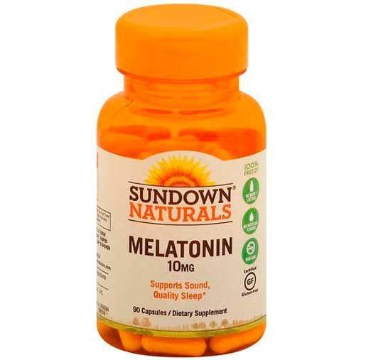 Melatonina Sundown Naturals 10mg, Força Extra, 90 Cápsulas