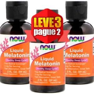 Leve 3 Pague 2 – Melatonina Liquida 3mg (60 ml) – Now Foods
