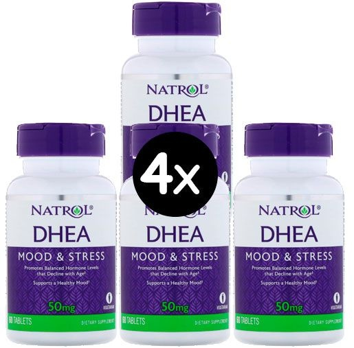 Pack 4X DHEA Natrol 50mg, 60 comprimidos