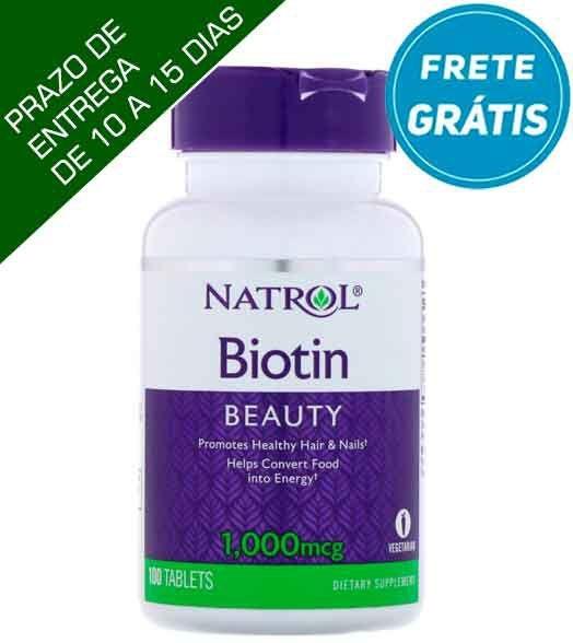Biotina Natrol – 1,000 mcg – 100 comprimidos