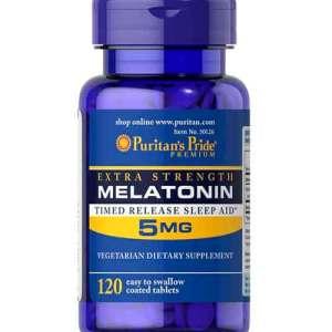 Puritan's Pride Melatonin 5 mg Timed Release - 120 Tablets