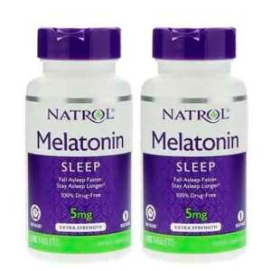 2x Melatonina 5mg Time Release (Liberação Gradual) – 100 comprimidos Natrol