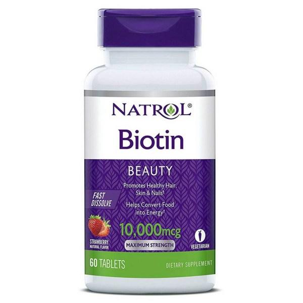 Biotina 10,000 mcg Fast Dissolve – Natrol – 60 Comprimidos