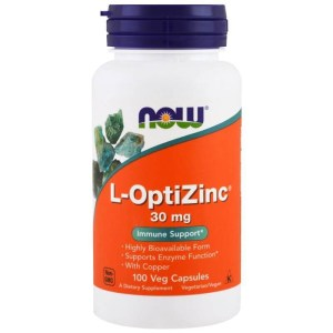 L-optizinc 30mg Zinco 100cps Now Contra Acne-espinha