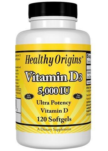 Vitamina D3 – Healthy Origin's – 5.000IU – 120 Cápsulas
