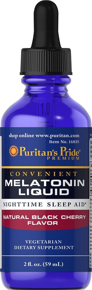 Melatonina líquida 1 mg - Puritan's Pride - 59 ml - Sabor Cereja