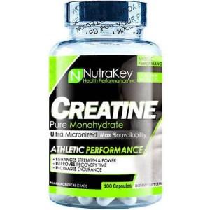 Creatina Nutrakey Monohydratada – 100 Cápsulas