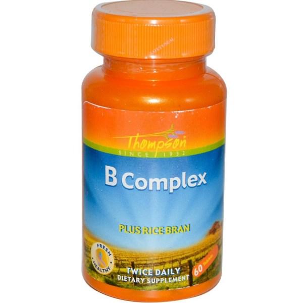 Complexo B – 60 comprimidos, com farelo de arroz – Thompson
