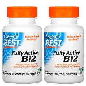 Vitamina B12 Doctor's Best 1500mcg, 60 Cápsulas