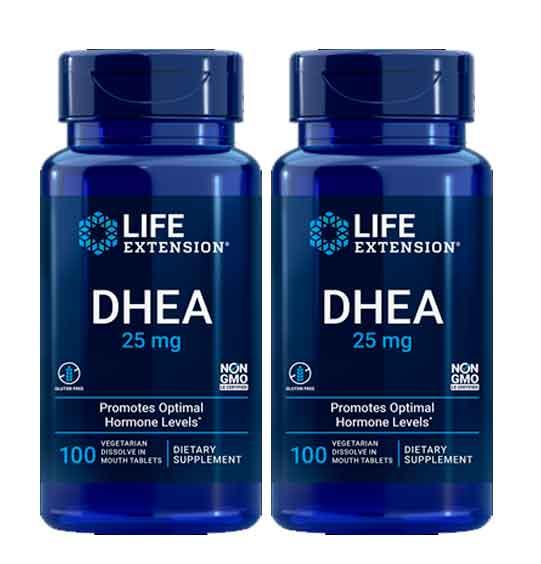 Dhea 25 mg Life Extension 100 comprimidos