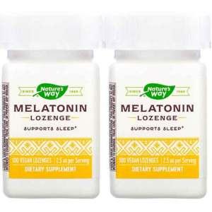 Melatonina de Pastilhas, Nature's Way, 2,5 mg, 100 Drágeas – Leve 1 Frasco