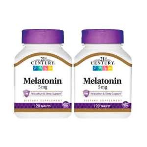 Melatonina 5mg 21st century 120 comprimidos – Leve 1 Frasco