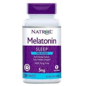 Melatonina Time Release 5mg, Natrol, 250 Comprimidos