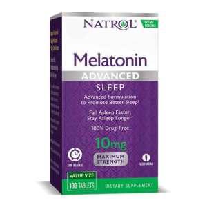 Privado: Melatonina Natrol Advanced Sleep 10mg, 100 Tabletes – Leve 1 Frasco