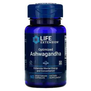 Ashwagandha Otimizada Life Extension 60 Cápsulas Vegetarianas