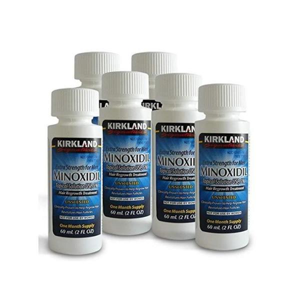 Minoxidil Kirkland 5% (6 Meses De Tratamento)