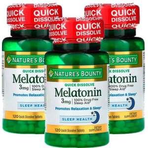 Melatonina 3mg Rápida Dissolução, Nature's Bounty – 120 comprimidos – Leve 2 Frascos