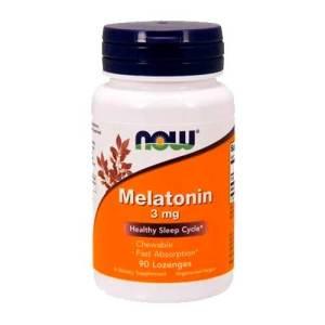 Melatonina 3 mg – Now Foods – Rápida Absorção – 90 comprimidos mastigáveis – Leve 1 Frasco