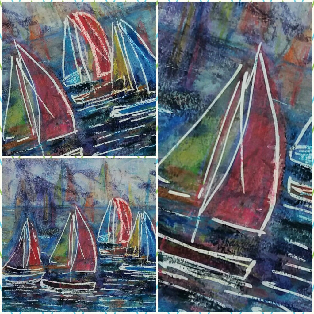 Sail Boats Photo Collage